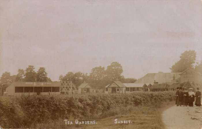New Passage Tea Gardens at sunset around 1910 - Click on picture for 2004 view