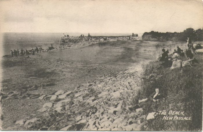 New Passage Beach early 1900's - Click on picture for 2004 view