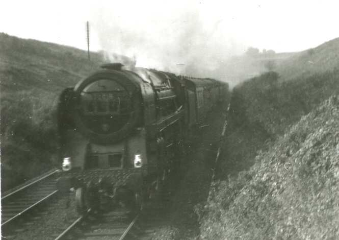 London express after leaving Severn tunnel 1952