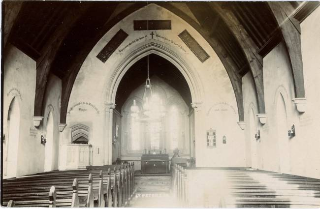 Old view inside of Pilning Church