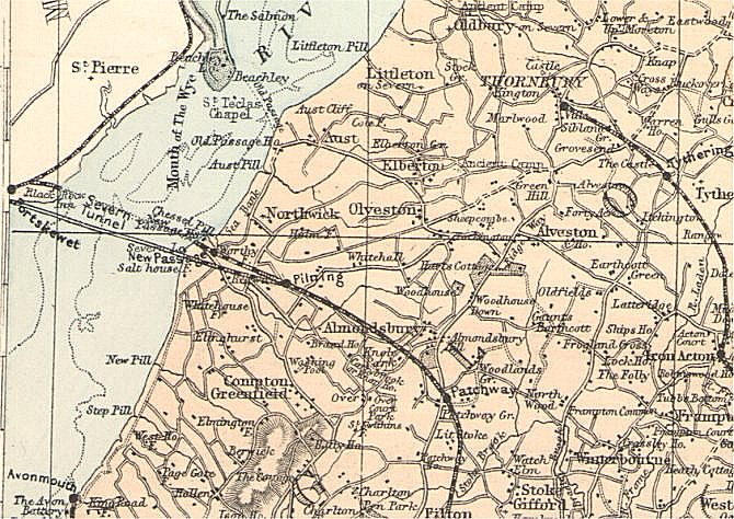 Pilning Map C1890