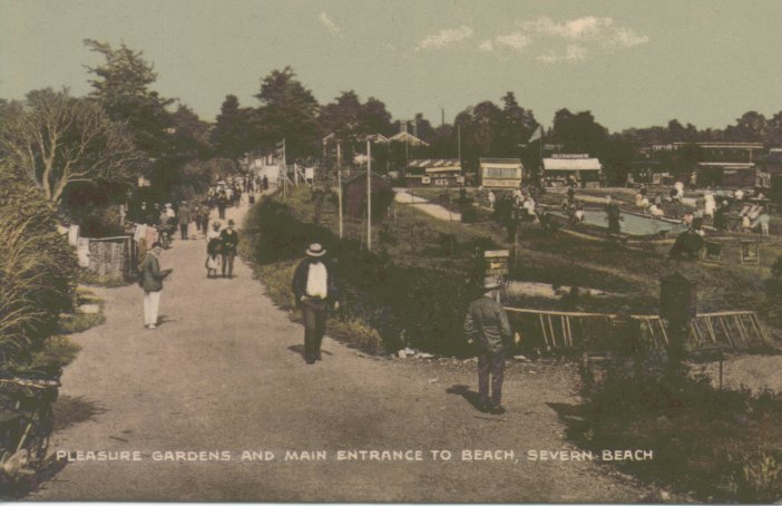 Pleasure gardens and main entrance to beach